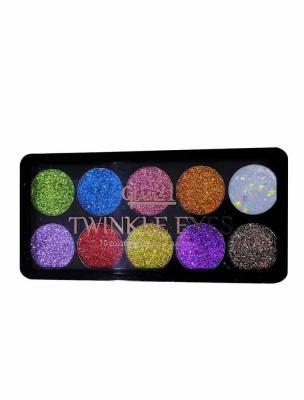 Glam21 Twinkle Eyes 10 Color Eyeshadow Palette No 02